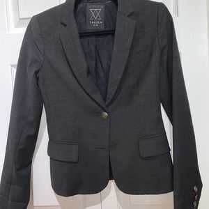 TALULA charcoal tailored fit blazer